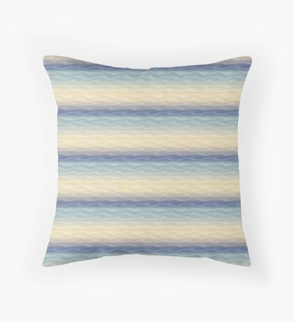 Soft Blue Sand Dunes Abstract Throw Pillow