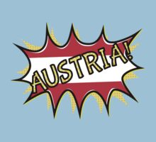 "Comic book ""KA-POW"" style Austrian flag  Kids Clothes"