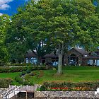 A Beautiful Home from a Boat on the Lake by TJ Baccari Photography
