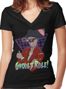 Ghoulz Rule! Women's Fitted V-Neck T-Shirt