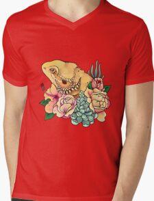 Pastel Bearded Dragon Mens V-Neck T-Shirt