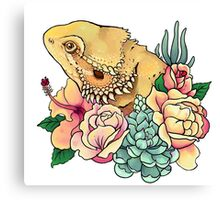 Pastel Bearded Dragon Canvas Print