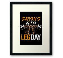 leg day - dragonballgoku Framed Print