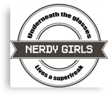 Nerdy Girls Canvas Print