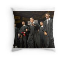 Kahuku graduation 2014 Boys Get Down Throw Pillow