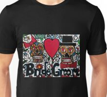 Bride and Groom Sugar Skulls Unisex T-Shirt