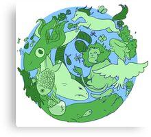 animals on earth Canvas Print