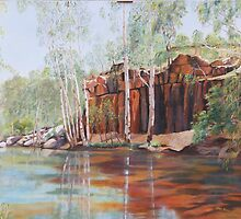 Umbrawarra Gorge, N. Territory.    Oil on Canvas. by Rita Blom