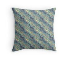 Pastel Currents Abstract Throw Pillow