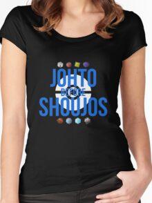 Johto Before Shoujos (White) Women's Fitted Scoop T-Shirt