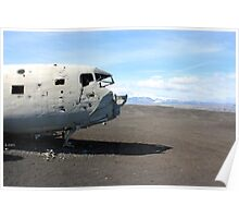 US Navy DC-3 wreckage Poster