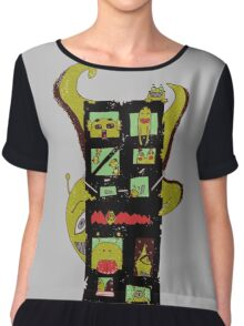 Monster Building by Lolita Tequila Chiffon Top