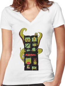Monster Building by Lolita Tequila Women's Fitted V-Neck T-Shirt