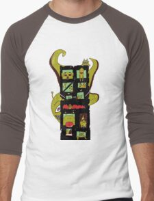 Monster Building by Lolita Tequila Men's Baseball ¾ T-Shirt
