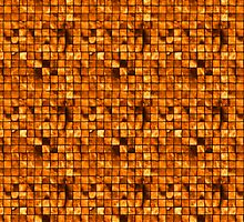 Golden Copper Tiles Pattern by pjwuebker