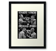 Mark Hunt Vs Bigfoot Silva Framed Print