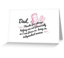 Independent Woman Greeting Card