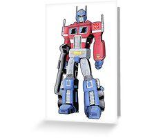 G1 Optimus Prime Greeting Card