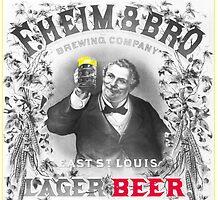 Vintage Lager Beer Ad by pjwuebker
