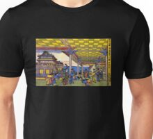 'Scene in Blue' by Katsushika Hokusai (Reproduction) Unisex T-Shirt