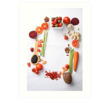 Vegetables Parade Art Print