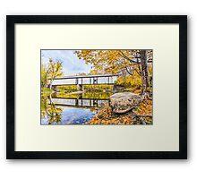 Covered Bridge Over Sugar Creek Framed Print