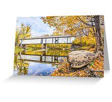 Covered Bridge Over Sugar Creek Greeting Card