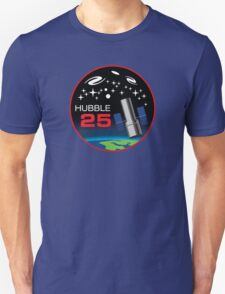 Hubble Space Teslescope 25 Years Tribute Logo Unisex T-Shirt