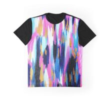 Spring Golden - Pink and Navy Abstract Graphic T-Shirt