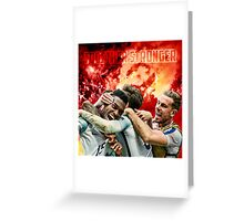 England Poster - Together Stronger Greeting Card