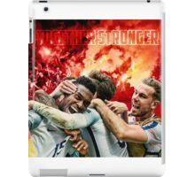 England Poster - Together Stronger iPad Case/Skin