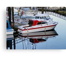 Manini Moored in Port Hardy Canvas Print