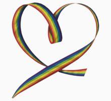 Pride Heart Ribbon Baby Tee