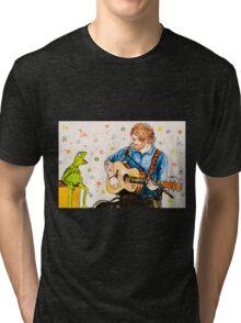 Ed Sheeran and Kermit the Frog Color Splash  Tri-blend T-Shirt