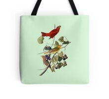 Vintage Bird Art Tanagers Tote Bag