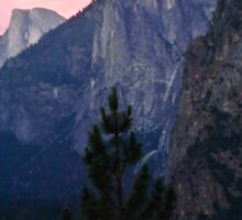 Bridalveil Falls and Half Dome at Sunset Sticker