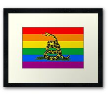 Don't Tread on Pride Framed Print