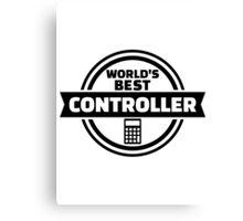 World's best controller Canvas Print