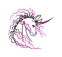 Ki-Rin (Japanese Unicorn) - Pink by Jennifer Doneske