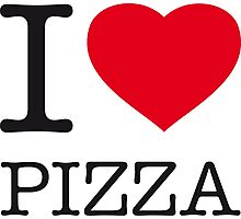 I ♥ PIZZA Photographic Print