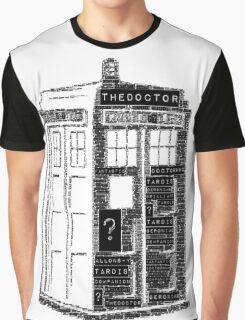 Tardis Word Art Graphic T-Shirt