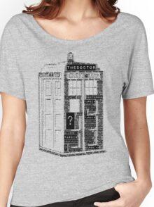 Tardis Word Art Women's Relaxed Fit T-Shirt