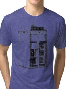 Tardis Word Art Tri-blend T-Shirt