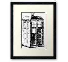 Tardis Word Art Framed Print