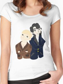 John and Sherlock  Women's Fitted Scoop T-Shirt