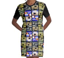 Rectangles of joy Graphic T-Shirt Dress