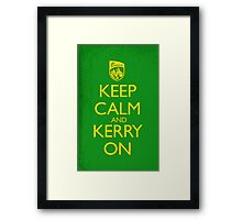 Keep Calm & Kerry On (grunge) Framed Print