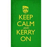 Keep Calm & Kerry On (grunge) Photographic Print