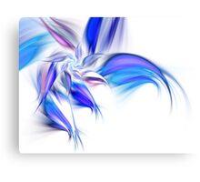 Blue Flower - Abstract Fractal Artwork Canvas Print