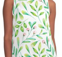 Nature in watercolor Contrast Tank